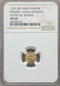 India:Independent Kingdoms - Mysore, India: Mysore. Haidar Ali gold Pagoda ND (1761-1782) AU50 NGC,...