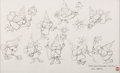 animation art:Model Sheet, Fractured Fairytales Model Sheet Drawings Signed by Bill Hurtz and Chris Jenkyns (Jay Ward, 1991). ...