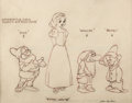 animation art:Model Sheet, Snow White and the Seven Dwarfs Model Sheet Drawing Signed by Alex Ignatiev (Walt Disney, 1937). ...
