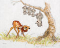 "Animation Art:Poster, Bambi ""A Special Look"" Limited Edition Lithograph Print#88/500 (Walt Disney, 1990)...."