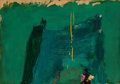 Post-War & Contemporary, Franz Kline (1910-1962). Green Painting, 1959. Oil on paperlaid on acrylic panel. 12-3/4 x 18-1/4 inches (32.4 x 46.4 c...