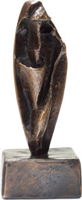 Sculpture, Henry Moore (1898-1986). Tube Form, 1983. Bronze with brown patina. 5 x 2 x 1-3/4 inches (12.7 x 5.1 x 4.4 cm). Ed. 9/9...