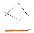 Sculpture, George Rickey (1907-2002). Unstable Square V, 1985. Stainless steel. 30 x 28 inches (76.2 x 71.1 cm). Ed. 1/3. Incised o...