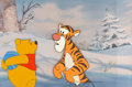 Animation Art:Production Cel, Winnie the Pooh and Tigger Production Cel (Walt Disney, c....