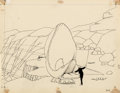 Animation Art:Production Drawing, Winsor McCay Gertie the Dinosaur Animation Drawing Original Art (1914).... (Total: 2 Items)