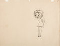 Animation Art:Production Drawing, She Wronged Him Right Betty Boop Animation Drawing (MaxFleischer, 1934)....