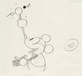 Animation Art:Production Drawing, Steamboat Willie Mickey Mouse Animation Drawing (Walt Disney, 1928)....