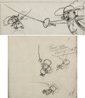 Animation Art:Production Drawing, Touché, Pussycat Tom, Jerry, and Tuffy Layout Drawings Group of 2 (MGM, 1954).... (Total: 2 Original Art)