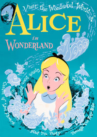 """Alice in Wonderland"" Ride Disneyland Park Attraction Poster (Walt Disney, 1958)"