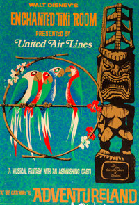 """Enchanted Tiki Room"" Disneyland Park Entrance Poster (Walt Disney, 1967)"