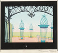 Animation Art:Concept Art, Wild Over You Layout Concept Art Signed by Maurice Noble (Warner Brothers, 1953)....