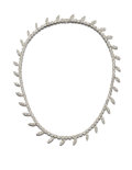 Estate Jewelry:Necklaces, Diamond, Platinum Necklace, Carvin French. ...