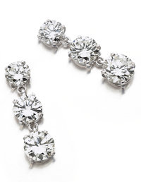 Diamond, White Gold Earrings