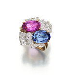 Estate Jewelry:Rings, Sapphire, Diamond, Platinum, Gold Ring, Oscar Heyman Bros.. ...