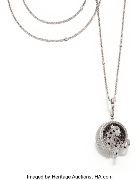 d8769e8ff ... Estate Jewelry:Necklaces, Diamond, Emerald, Black Onyx, White Gold  Pendant- ...