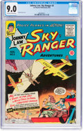 Golden Age (1938-1955):War, Johnny Law, Sky Ranger #3 (Lev Gleason, 1955) CGC VF/NM 9.0Off-white to white pages....