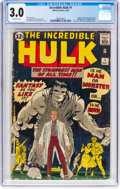 Silver Age (1956-1969):Superhero, The Incredible Hulk #1 (Marvel, 1962) CGC GD/VG 3.0 Off-whitepages....