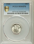 1930 10C MS66 Full Bands PCGS Secure. PCGS Population: (139/23 and 5/2+). NGC Census: (23/3 and 2/0+). CDN: $1,000 Whsle...