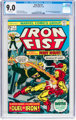 Iron Fist #1 (Marvel, 1975) CGC VF/NM 9.0 White pages