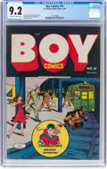 Golden Age (1938-1955):Crime, Boy Comics #19 (Lev Gleason, 1944) CGC NM- 9.2 Off-white to white pages....