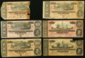 Confederate Notes:1864 Issues, T67 $20 1864 Eight Examples;. T68 $10 1864 Four Examples.. Very Good or Better.. ... (Total: 12 notes)