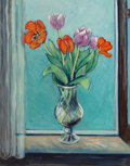 Paintings, Jean-Pierre Cassigneul (French, b. 1935). Fleurs, 1972. Oil on canvas. 36-1/4 x 29 inches (92.1 x 73.7 cm). Signed lower...