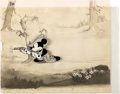 Animation Art:Production Cel, Two-Gun Mickey Production Cel with Production Background (Walt Disney, 1932/1934).... (Total: 2 Items)