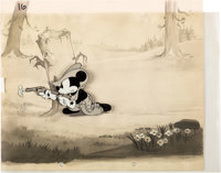 Two-Gun Mickey Production Cel with Production Background (Walt Disney, 1932/1934).... (Total: 2 Items)