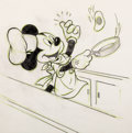 Animation Art:Production Drawing, Mickey Mouse Disney Studio Restaurant Menu Drawing Original Art (Walt Disney, c. 1950s)....