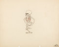 Animation Art:Production Drawing, The Skeleton Dance Animation Drawing Original Art (Walt Disney, 1929)....