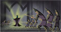 Animation Art:Concept Art, Sleeping Beauty Maleficent Concept/Color Key PaintingOriginal Art by Eyvind Earle (Walt Disney, 1959)....
