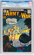 Silver Age (1956-1969):War, Our Army at War #126 (DC, 1963) CGC VF 8.0 Off-white pages....