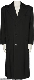 "Hollywood Memorabilia:Costumes, Bing Crosby ""Going My Way"" Costume Coat. A handsome black MacIntosh overcoat worn by the crooner in the 1944 comedy drama. C..."