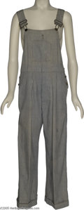 Hollywood Memorabilia:Costumes, Judy Garland Costume Overalls. Her distinctive voice and disarmingsincerity allowed Judy Garland to make the jump from the ...