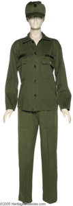 """Hollywood Memorabilia:Costumes, Bette Midler """"For the Boys"""" Costume. Here is an olive drab army uniform worn by actress-diva Bette Midler in the 1991 comedy..."""