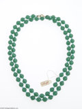 Hollywood Memorabilia:Costumes, Marilyn Monroe Bead Necklace. This green bead necklace was ownedand worn by the starlet....