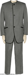 "Hollywood Memorabilia:Costumes, Sean Penn Suit. Gray Nehru suit worn by the talented actor in themovie ""I Am Sam,"" for which Penn received an Oscar nominat..."