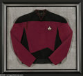 "Memorabilia:Miscellaneous, Patrick Stewart ""Star Trek: The Next Generation"" Costume Uniform Tunic. Here is a framed and mounted Star Fleet uniform tuni..."