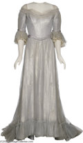 "Hollywood Memorabilia:Costumes, Elizabeth Taylor Costume Dress. Here is a beautiful gray dress wornby Taylor in the 1954 period drama ""Beau Brummell."" This..."
