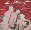 """Music Memorabilia:Recordings, """"The Platters"""" LP King 651 Mono (1959). This was a reissue of an album on Federal in 1957. The Platters were the premier voc..."""