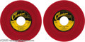 """Music Memorabilia:Recordings, Flamingos """"That's My Desire"""" b/w """"Hurry Home Baby"""" Red Vinyl 45Chance 1140 (1953). Second recording for the seminal R&B voc..."""