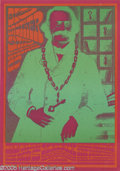 Music Memorabilia:Posters, Big Brother and the Holding Company Matrix 1/31, 2/5/67 (Neon Rose,1967) Very colorful Victor Moscoso-designed poster for t...