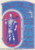Music Memorabilia:Posters, Big Brother and the Holding Company Stockton Civic Auditorium4-16-67 (S&P Co., 1967) Stanley Mouse studios turns in aposte...