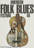 Music Memorabilia:Posters, American Folk Blues Festival Poster (1968). A vintage poster forthe 1968 festival advertising performances by Jimmy Reed, J...