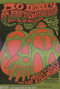 Music Memorabilia:Posters, Bo Diddley/Big Brother and the Holding Company Fillmore Poster#BG71, 7/4 & 9/67 (Bill Graham, 1967). Artist BonnieMacLean'...