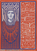 Music Memorabilia:Posters, Captain Beefheart and his Magic Band Fillmore Poster, #BG18 (WestCoast Litho/Bill Graham, 1966). Here's a very early show f...