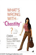 """Music Memorabilia:Posters, Cher """"Chastity"""" One-Sheet Poster. Poster for the 1969 moviestarring Cher, written by then-husband Sonny Bono. 27"""" x 41"""" wit..."""