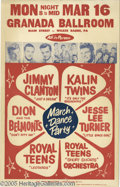 Music Memorabilia:Posters, Dion & The Belmonts Poster (1959). By blending the bestelements of doo wop, teen idol, and R&B styles, Dion & TheBelmonts ...