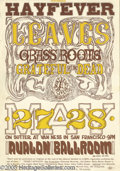 "Music Memorabilia:Posters, Grateful Dead ""Hayfever"" Avalon Poster # FD10, 5/27-28/66 (Family Dog, 1966). A very early poster from the Family Dog, this ..."