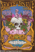 Music Memorabilia:Posters, Grateful Dead/ Quicksilver Messenger Service Winterland Poster#BG152 12/31/68 (Bill Graham, 1968). It's a New Year's Eve fr...
